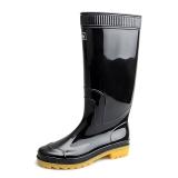回力 Warrior 雨鞋男式高筒防水雨鞋户外雨靴工作鞋套鞋 HXL807 黑色高筒 39