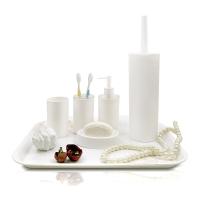 普业 菱形卫浴套装 五件套(皂盒/牙具盒/乳液瓶/漱口杯/马桶刷套装)PY-1040