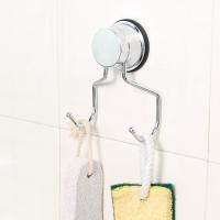 护家 强力无痕 吸盘厨房卫生间双挂钩 挂衣钩 EK02111804 银色