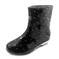 回力 Warrior 雨鞋中筒女鞋防水鞋套鞋雨靴胶鞋 HXL523 粉点黑 37
