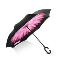 Hommy 双层反向反骨超强防雨防晒免持式长柄直柄伞 收纳便捷 雏菊