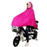 雨航(YUHANG)單人自行車雨披 男女單人時尚電動車單車雨衣 大帽檐 3XL 玫紅色