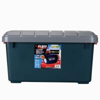愛麗思(IRIS) 汽車收納箱儲物箱 RV600 40升 PP樹脂材料 深綠/灰色