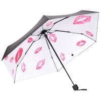 花觉 五折伞防晒防紫外线晴雨伞 唇印