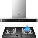 华帝(VATTI)大吸力 高频自动洗 20立方米瞬吸 欧式抽油烟机灶具套装(天然气) CXW-228-i11068
