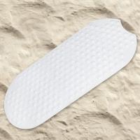 德国瑞德 RIDDER 椭圆形足底梦之城app客户端下载浴室防滑垫 环保橡胶材质 38×89cm 白色 68101