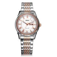 依波(EBOHR)手表 都市经典系列钨钢圈白面钢带机械情侣表女表10610527