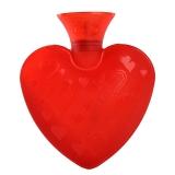 费许(FASHY) 0.7升PVC材质红色6410心形热水袋配同色系绒布外套