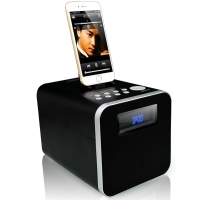 RSR DS411 苹果音箱蓝牙音箱 iPhone X/8/7/6s/ipad手机底座音箱 黑色
