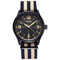 锐力(READ)手表 男表石英表帆布表带R2060黑面黑框蓝卡其带