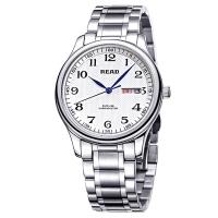 锐力(READ)手表 经典系列双日历石英男表白数钢R6003G