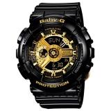 卡西欧(CASIO)手表 BABY-G 魔金双显 女士防震防水运动手表石英表 BA-110-1A