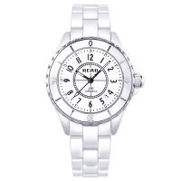 锐力(READ)手表 波西米亚系列白陶瓷石英女表数字面R3002L/S