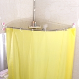 宝优妮免打孔弧形浴帘杆浴帘套装吸盘式浴杆DQ1615-2