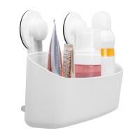 佳佰 强力吸壁大号收纳篮 卫生间浴室厨房置物架 不锈钢免打孔置物架