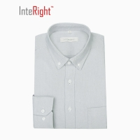 INTERIGHT 牛津纺男士长袖衬衫 灰色 40码
