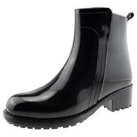 海天客(Halteke) 雨鞋时尚手绘短靴防水雨靴胶鞋 DB001 黑色 35码