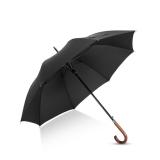 Hommy 超大男士英伦商务自动开弯柄伞 黑色
