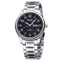 锐力(READ)手表 经典系列双日历石英男表黑数钢R6003G