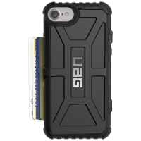UAG iPhone8(4.7英寸)防摔手机壳保护套 适用于苹果iPhone8/iPhone7携带卡片式 黑色