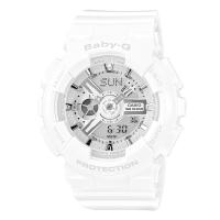 卡西欧(CASIO)手表 BABY-G 女士防震防水双显运动手表石英表 BA-110-7A3