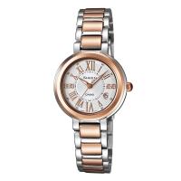 卡西欧(CASIO)手表 SHEEN 女士玫瑰金施华洛世奇时尚腕表石英表 SHE-4029SGA-7A
