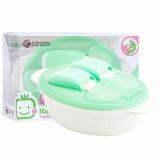 小介嘟(KIDOKARE)儿童餐具盒婴幼儿餐盒宝宝饭盒勺叉便携套装 粉绿色 KK-05