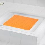 德国瑞德 RIDDER 正方形波浪镂空防滑垫 环保橡胶材质 54*54cm 橙色 68414