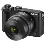 尼康(Nikon)J5+1 微单相机 尼克尔 VR防抖 10-30mm f/3.5-5.6 PD镜头 黑色(2080万有效像素 可更换镜头 4K视频录制 可翻折触摸屏)