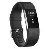 Fitbit  Charge 2 智能时尚心率手环 心率实时监测 自动睡眠记录 来电显示 VO2Max测量 黑色L