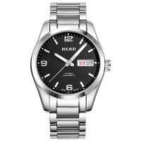 锐力(READ)手表 传奇系列全自动机械男表黑盘钢带R8083GA