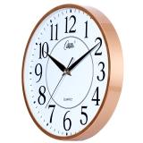 康巴丝(Compas)挂钟15英寸创意静音客厅钟表现代简约时钟居家办公挂表电子石英钟C2948玫瑰金