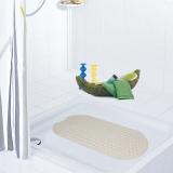 德国瑞德 RIDDER 椭圆形足底梦之城app客户端下载浴室防滑垫 环保橡胶材质 38×89cm 银灰色 68109