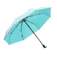 obolts三折防晒伞黑胶超强防晒紫外线太阳伞白色韩国风格简约小清新森系晴雨伞女遮阳伞