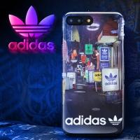 adidas(阿迪达斯) 苹果iPhone7P\8 Plus手机壳 日系街头风时尚创意款 潮男全包防摔女硅胶保护套