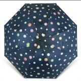 百盛洋伞 水波圆点遇水遇热变色晴雨伞黑胶防紫外线UPF50+遮阳伞 7392G 藏青色