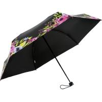 天堂伞 全遮光(UPF50+)黑丝亮胶五折超轻太阳伞晴雨伞31832E玫粉色