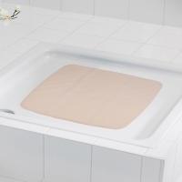 德国瑞德 RIDDER 防滑垫/浴室脚垫 橡胶脚垫 浴室防滑垫/欧式正方形 54*54cm/浅灰色/66289