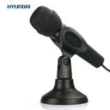 现代(HYUNDAI)HY-M30 台式麦克风 手持话筒 单插头 电脑专用 网络KTV/K歌/卡拉OK/语音电话聊天 黑色
