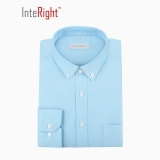 INTERIGHT 牛津纺男士长袖衬衫 淡蓝色 38码