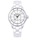 锐力(READ)手表 波西米亚系列白陶瓷石英女表钻面R3002L/S
