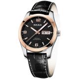 锐力(READ)手表 传奇系列全自动机械男表玫黑盘黑皮带R8083GA