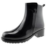 海天客(Halteke) 雨鞋时尚手绘短靴防水雨靴胶鞋 DB001 黑色 38码