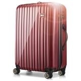 宾豪BINHAO 拉杆箱 防刮防磨进口PC旅行箱 万向轮商务登机箱20英寸E4E4HA枣红