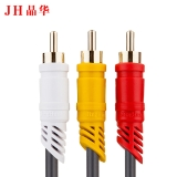 晶华(JH)0401 音频线AV视频线 影音频转接头配件3RCA对3RCA连接线三莲花对三莲花线红白黄线电视机顶盒线3米灰色