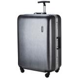 LATIT PC防刮防磨铝框旅行行李箱 拉杆箱 26英寸 万向轮 拉丝银