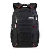 艾奔(AspenSport)电脑双肩包 男书包女背包AS-B06 黑+红 小版