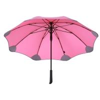 obolts花型伞半自动特大双人伞超大防风伞防晒防紫外线加固长柄直柄梅花雨伞