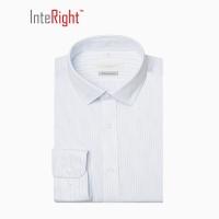 INTERIGHT DP100 成衣免烫衬衫男士长袖 蓝白条纹 40码