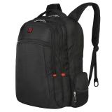 SVVISSGEM双肩背包 商务款多功能电脑包书包iPad包15.6英寸 男女学生书包 SA-0077 黑色